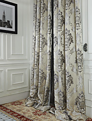 cheap -Two Panels Curtain Rococo Polyester Material Curtains Drapes Home Decoration For Window