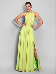 Haljina / stupac visoka vrata duljina šifon haljina s draping by ts couture ®
