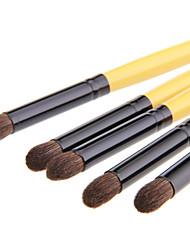 billige Øyenskyggebørster-5pcs Makeup børster Profesjonell Øyenskyggebørste Syntetisk hår Stor Børste / Klassisk