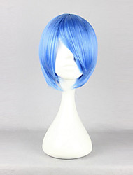 cheap -Cosplay Wigs Cosplay Rei Ayanami Blue Short Anime Cosplay Wigs 30 CM Heat Resistant Fiber Female