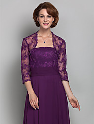 cheap -Lace Wedding / Party Evening Women's Wrap With Beading / Lace Shrugs