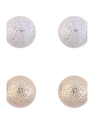 billige -lille kugle mat øreringe sæt (2 par per sæt) klassisk feminin stil