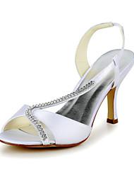 economico -da sposa in raso occasione tacco stiletto fionda back & pompe sandali e tacchi (più colori)