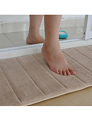 "cheap -Bath Mat Memory Foam Beige Stripe 16 x 24"" Non Skid"
