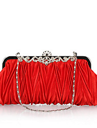 cheap -Women Bags Polyester Evening Bag Crystal/ Rhinestone for Wedding Event/Party Formal Office & Career All Seasons Fuchsia Brown Red Pink
