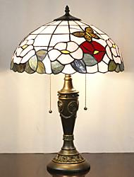 Недорогие -Цветочные настольные лампы Pattern, 2 Свет, Тиффани Смола Стекло картины