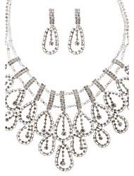 Conjunto de jóias Mulheres Aniversário / Noivado / Presente / Festa / Diário / Ocasião Especial Conjuntos de Joalharia Liga StrassColares