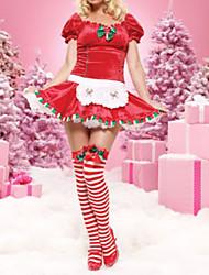 Short-Sleeve Red Women's Christmas Costume