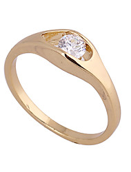 Chapeamento de ouro Zircon Anel J27013 das KU NIU Mulheres