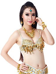 cheap -Belly Dance Tops Women's Training Polyester Beading Sequins Elegant Style