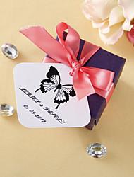 abordables -Etiquetas cuadrados personalizados - Classic mariposa (juego de 36)