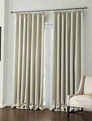 cheap -Rod Pocket Grommet Top Tab Top Double Pleat Two Panels Curtain Neoclassical, Embossed Polyester Material Blackout Curtains Drapes Home