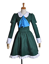 cheap -Inspired by Cosplay Mary Video Game Cosplay Costumes Cosplay Suits / Dresses Patchwork Green Long Sleeve Dress