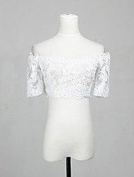Lace Wedding Party Evening Casual Office & Career Wedding  Wraps With Lace Shrugs