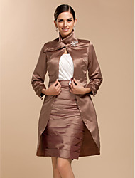 cheap -Long Sleeves Satin Wedding Party Evening Wedding  Wraps Coats / Jackets