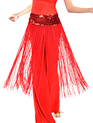 Belly Dance Belt Women's Training Polyester Tassel(s) Natural