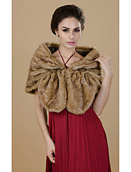 faux fur party / evening casual fur wraps encolhe os ombros estilo feminino clássico