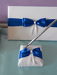 Guest Book Pen Set Satin Beach Theme Classic Theme With Bow Wedding Ceremony