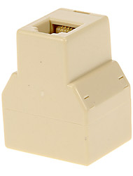 RJ11 Female to 2 Female Adapter Beige