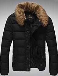 Недорогие -Мужская толстые шерстяные пиджаки хлопка воротник