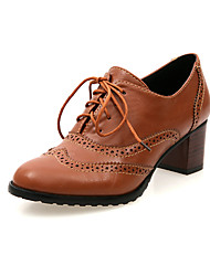 Women's Spring Summer Fall Winter Leatherette Office & Career Chunky Heel Block Heel Hollow-out