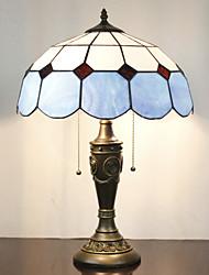 Недорогие -Настольная лампа, 2 Света, Минималистский Смола Тиффани стекла картины