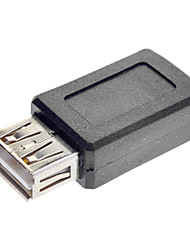 economico -USB A Femmina a Mini USB femmina Adattatore nero