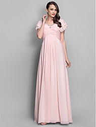 A-Line Princess V-neck Floor Length Chiffon Prom Dress with Beading by TS Couture®