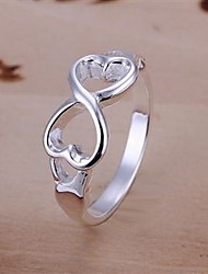 cheap -Women's Band Ring - Sterling Silver, Silver, Alloy Cross Fashion 6 / 7 / 8 Silver For Party / Daily