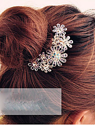 cheap -Women's Crystal Alloy Hair Comb Flower