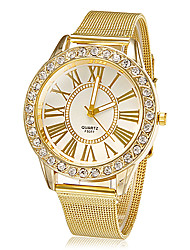 cheap -Women's Wrist watch Dress Watch Fashion Watch Quartz Rhinestone Imitation Diamond Alloy Band Flower Sparkle Gold