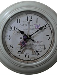"12.75 h ""eiffel amo relógio de parede de metal"