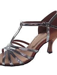 """Scarpe da ballo - Disponibile """"su misura"""" - Donna - Latinoamericano / Sala da ballo - Customized Heel - Satin / Vernice - Argento"""