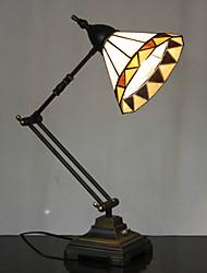 billiga -40W vintage tiffany glas ljus med harts stativ och justerbar arm