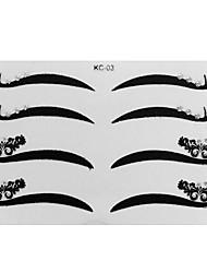 economico -4 Coppia Eyeliner Sticker con Strass Trucco