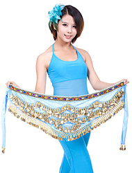 cheap -Belly Dance Belt Women's Training Polyester Beading / Coin Hip Scarf / Ballroom