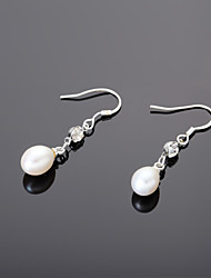elegantní slitina s drahokamy perleťové dámské náušnice elegantní styl