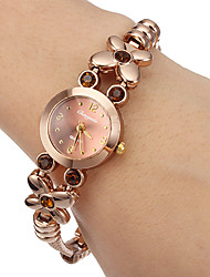 cheap -Women's Little Round Dial Diamante Flower Alloy Band Quartz Analog Wrist Watch Cool Watches Unique Watches