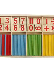 cheap -Mathematical intelligence bamboo stick classic toys