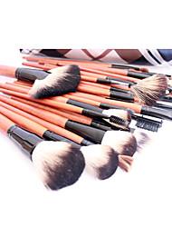 billige -Pro High Quality 36 PCer Natural Goat Hair Makeup Brush Set med Trellis Design Pouch