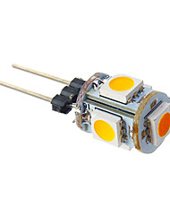 cheap -G4 LED Corn Lights T 5 leds SMD 5050 Warm White 70lm 3000K DC 12V