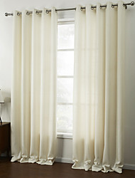 cheap -(Two Panels) Modern White Solid Energy Saving Curtain