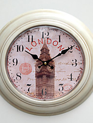 "12.75""H London Style Metal Wall Clock"