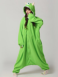 cheap -Kigurumi Pajamas One-Eyed Monster Onesie Pajamas Costume Polar Fleece Green Cosplay For Adults' Animal Sleepwear Cartoon Halloween