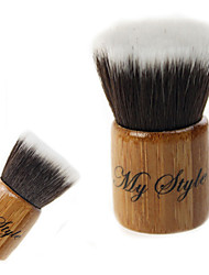 billiga -Hög kvalitet Syntetiskt hår Bamboo Handle Mini Makeup Flat Blusher / Powder Kabuki Brush