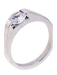 Statement-ringe Zirkonium Kvadratisk Zirconium Sølvbelagt minimalistisk stil Sølv Smykker Fest Daglig Afslappet 1 Stk.