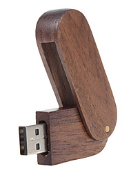 cheap -8GB usb flash drive usb disk USB 2.0 Wooden Rotating Compact Size