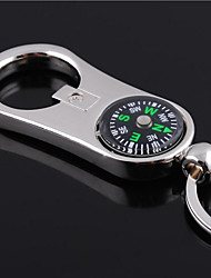 cheap -Personalized Engraved Gift Curve Compass Style Shaped Keychain