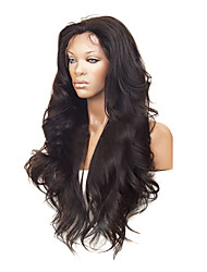 cheap -Human Hair Lace Front Wig Brazilian Hair Wavy / Classic Wig 100% Hand Tied Human Hair Lace Wig / Natural Wave