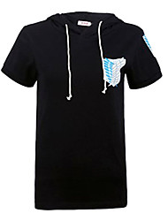 Inspiriert von Attack on Titan Eren Jager Anime Cosplay Kostüme Cosplay-T-Shirt Druck Kurzarm Mantel Für Mann